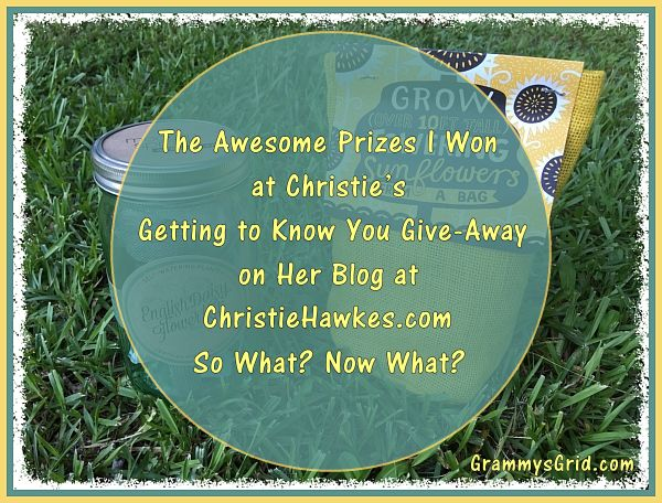 I Won Christie's Getting to Know You Give-Away at ChristieHawkes.com