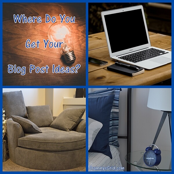 Where do you get your blog post ideas?