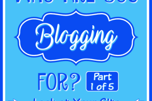 Who are you blogging for? Part 1 - Look at your site!