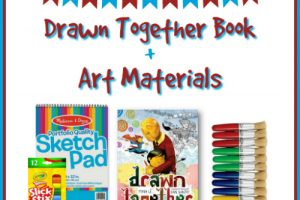DRAWN TOGETHER BOOK + ART MATERIALS GIVEAWAY