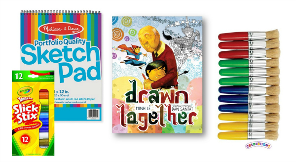 Drawn Together Book and Art Materials Giveaway Piazes