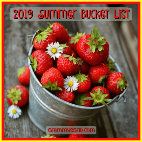2019 Summer Bucket List at Grammy's Grid.