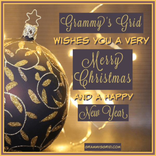 Grammy's Grid Wishes You a Very Merry Christmas and a Happy New Year!