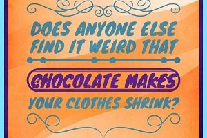 DOES ANYONE ELSE FIND IT WEIRD THAT CHOCOLATE MAKES YOUR CLOTHES SHRINK? #chocolate #humor #laughter #LaughterIsTheBestMedicine #ChocolateShrinksClothes