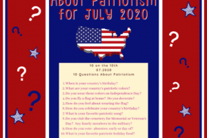 10 QUESTIONS ABOUT PATRIOTISM FOR JULY 2020