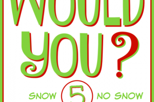 WOULD YOU? 5 - Would you rather have snow or no snow for Christmas? Which answer would you choose? #questions #answers #WouldYou #WouldYouRather #Christmas #snow