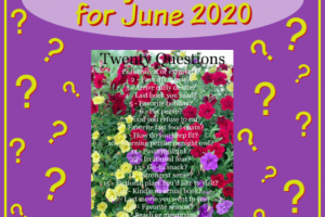 TWENTY QUESTIONS FOR JUNE 2020. What would your answers be? #20questions #questions #answers #blogging #bloggers #prompt