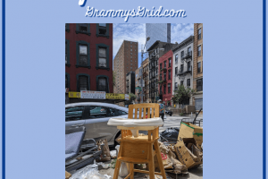 SADLY SENTIMENTAL (100 WORDS OR LESS IMAGE PROMPT) #writing #prompt #WritingPrompt #100WordsOrLess #highchair #trash #garbage #memories #sentimental