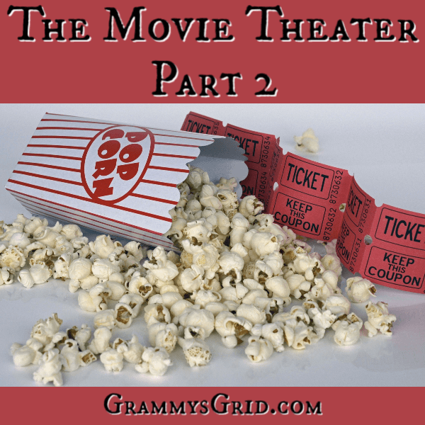THE MOVIE THEATER - PART 2 is a short story linked up at the #ShortStoryPromptLinkParty 20. Use the prompt, create your story, and add it to the party! No story is too short! #WritingPrompt #ShortStory #LinkParty